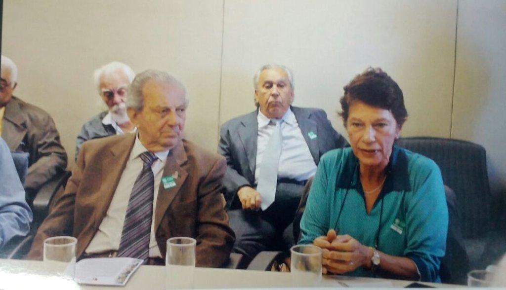 Saulo Gomes e Clélia Hunke da Silva - presidente e vice presidente da ABAP - diretores da ABAP Paulo Canabrava e Antonio Diniz