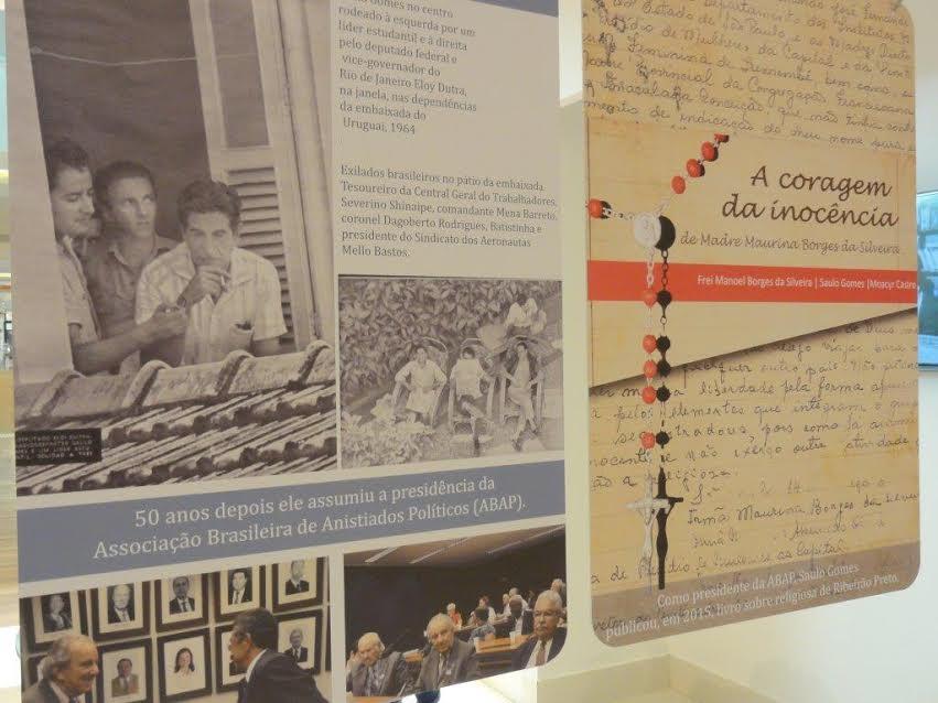 Painel - asilo embaixada do Uruguai no Rio de Janeiro e livro A coragem da Inocência - Madre Maurina