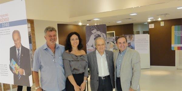 Dácio Campos, Adriana Silva – responsável pela elaboração da exposição, Saulo Gomes e Marcos