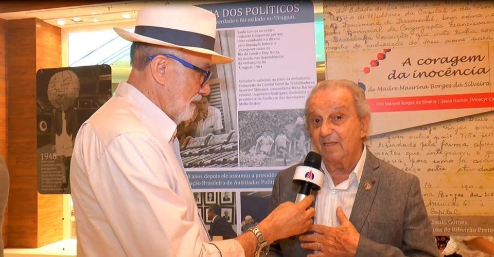 Manoel Simões - TV Clube - Rede Bandeirantes RP entrevista Saulo Gomes