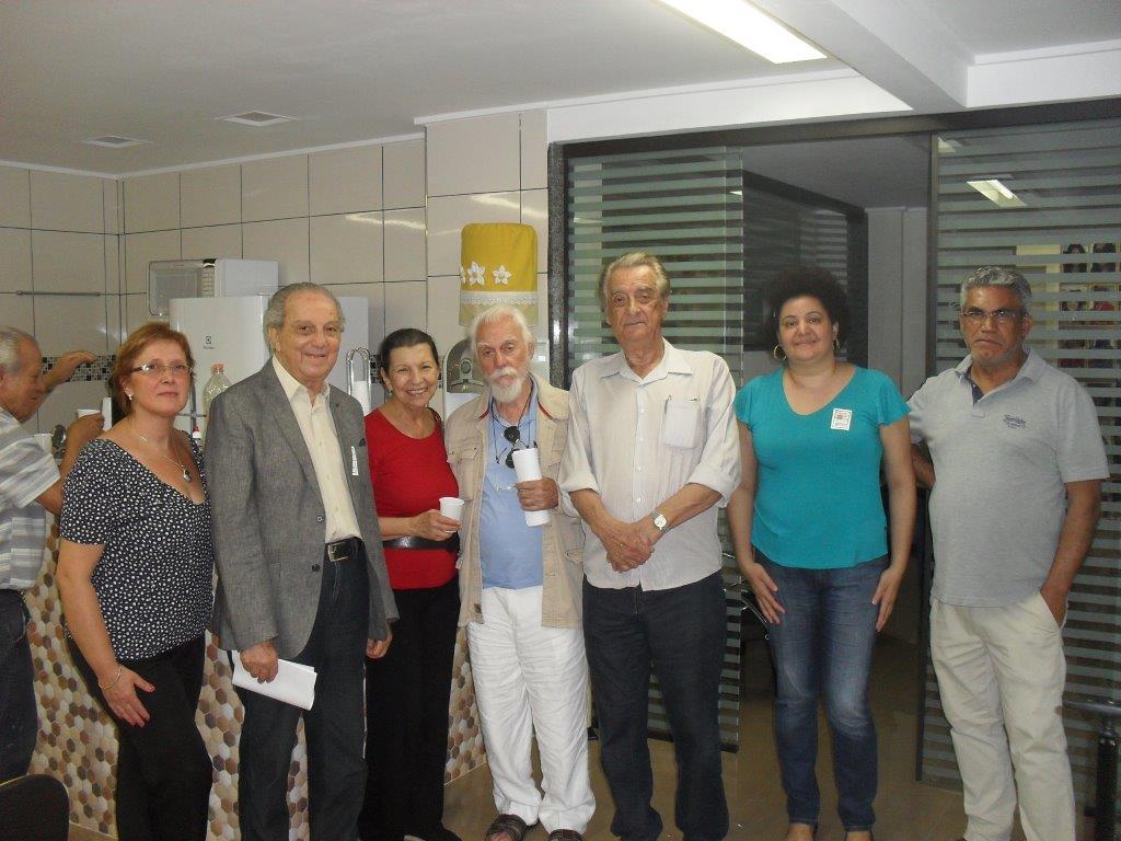 Representantes de entidades de anistiandos em Reunião no Sindicato dos Jornalistas de SP