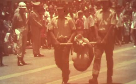 Guarda rural indígena: a foto mostra a formatura de 84 indígenas, em 1970, treinados pelo regime militar para realizar repressão nas aldeias / Arquivo Convemg